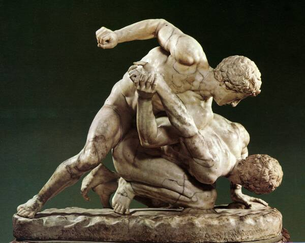 Image of Ancient Olympics Wrestlers